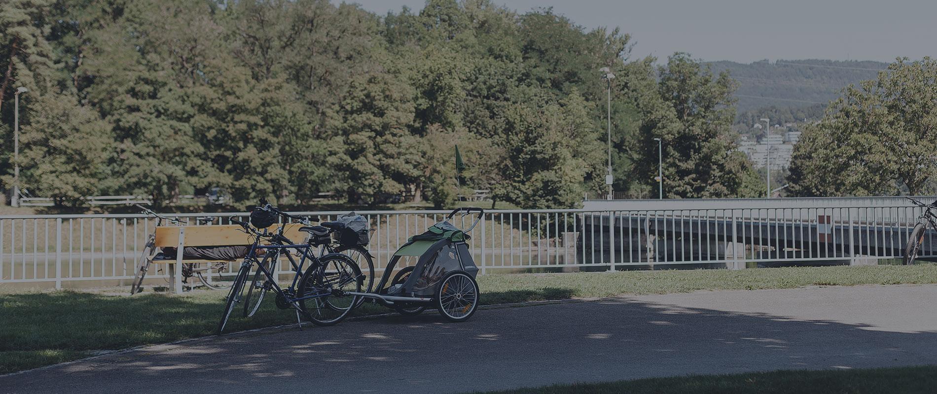 Aarau a okolí s dětmi na kolech